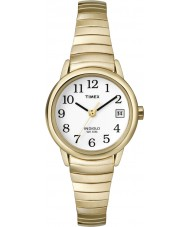 Timex T2H351 Ladies White Gold Easy Reader Watch