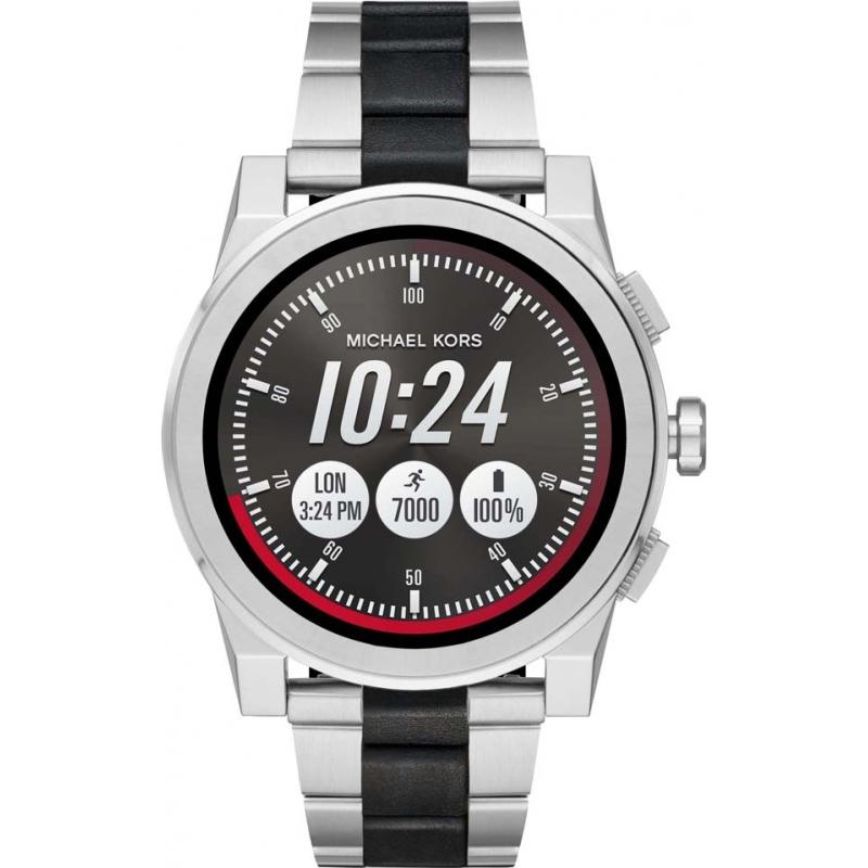 9910adafa36b Silver Black Metal MKT5037 Michael Kors Access Smartwatch