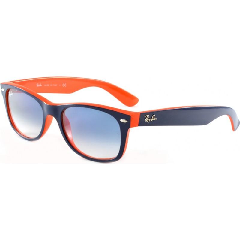 a1c328bf30 RayBan RB2132-52-789-3F RB2132 52 New Wayfarer Top Blue-Orange