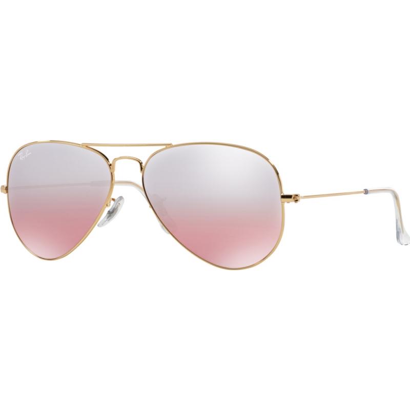 fe6316b49ba RayBan RB3025-55-001-3E RB3025 55 001 3E Aviator Large Metal Sunglasses