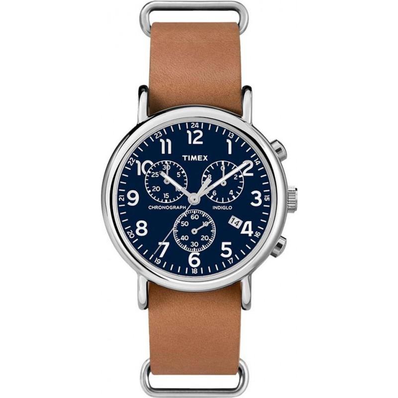 dee764ba85 Timex TW2P62300 Weekender Brown Strap Chronograph Watch