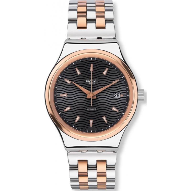 Swatch YIS405G Sistem smoking dois tons pulseira de aço relógio 54700c9b87